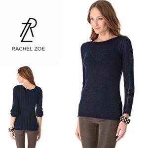 Rachel Zoe Navy Blue Cozy Knit Sweater